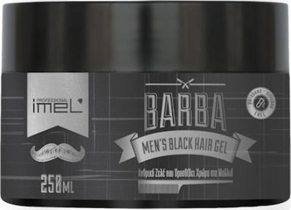 Εικόνα της BARBA MEN'S BLACK HAIR GEL 250ml IMEL