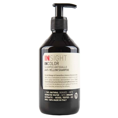 Εικόνα της ANTI-YELLOW SHAMPOO  VEGAN 400ml INSIGHT